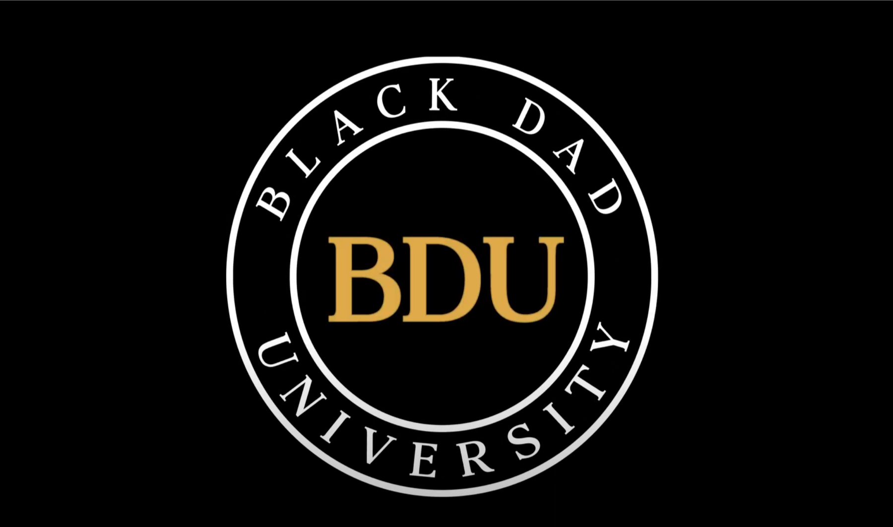 Black Dad University BDU seal